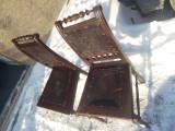 Pereche scaune cu piela de Cordova., Baroc, 1800 - 1899