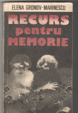 (C6577) ELENA GRONOV-MARINESCU - RECURS PENTRU MEMORIE