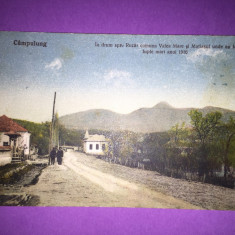 Campulung Muscel - In drum spre Rucar - Carte Postala Muntenia 1904-1918, Circulata, Fotografie