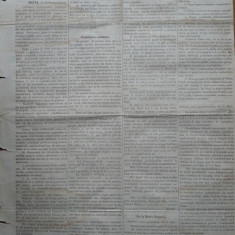 Ziarul Albina , nr. 38 , 1870 , Budapesta , in limba romana , Director V. Babes