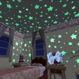 Set 100 Stelute fosforescente | stickere pentru tavan pereti camera copii