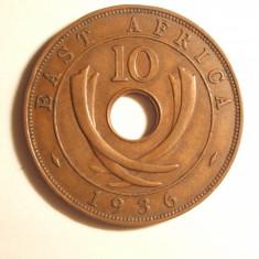 EST AFRICA 10 CENTI 1936 EDWARD RAR