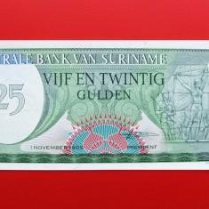 SURINAME - 25 Gulden 1985 - UNC - bancnota america