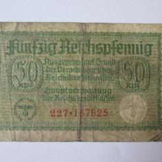 50 REICHSPFENNIG GERMANIA NAZISTA 1939 - bancnota europa