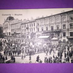 Bukowina - Cernauti - Piata - Carte Postala Bucovina 1904-1918, Circulata, Fotografie