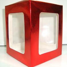 Cutie cadoucarton cu fereastra, martisoare, 12 /10/10 cm, pret pe o buc