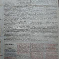 Ziarul Albina , nr. 37 , 1870 , Budapesta , in limba romana , Director V. Babes