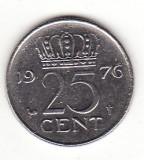 Olanda 25 centi 1976 - Juliana, Europa, Nichel