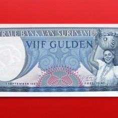 SURINAME - 5 Gulden 1963 - UNC - bancnota america