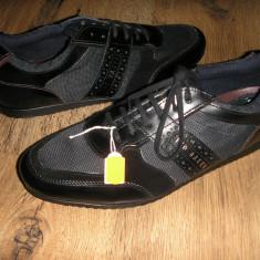 Pantofi barbat TED BAKER LONDON originali noi piele+tesut foarte comozi 42/44 - Adidasi barbati, Culoare: Negru