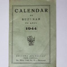 CALENDAR DE BUZUNAR PE ANUL 1944 - Calendar colectie