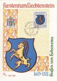 3712 - Lichtenstein 1964 - carte maxima