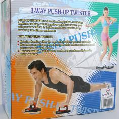 Aparat multifunctional pentru flotari si mobilitate - Twister Push Up - Nou