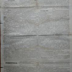 Ziarul Albina , nr. 36 , 1870 , Budapesta , in limba romana , Director V. Babes