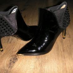 Superbe botine dama TED BAKER LONDON originale noi piele lacuita Sz 37!, Culoare: Negru, Piele naturala