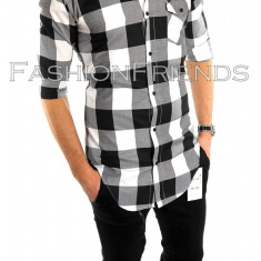 Camasa tip Zara bumbac - camasa carouri - camasa barbati - cod produs: 5817, Marime: M, L, XL, Culoare: Din imagine, Maneca lunga
