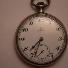 CEAS DE BUZUNAR-SWISS MADE-MARCA OMEGA-D=4, 8CM-ARATA SI FUNCTIONEAZA BINE. - Ceas de buzunar vechi