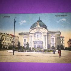 Bukowina - Cernauti - Teatrul National - Carte Postala Bucovina 1904-1918, Circulata, Fotografie