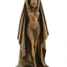 DANSATOARE ORIENTALA - STATUETA DIN BRONZ PE SOCLU DIN MARMURA - Sculptura, Nuduri