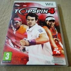 Top Spin 4, pentru Wii, original, PAL, alte sute de jocuri - Jocuri WII Altele, Sporturi, 3+, Multiplayer