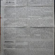 Ziarul Albina , nr. 30 , 1870 , Budapesta , in limba romana , Director V. Babes