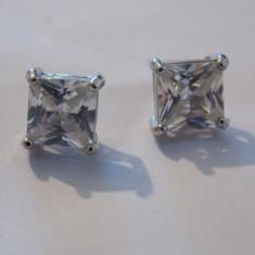 Cercei argint zirconii patrate - 362