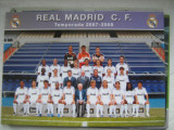 Real Madrid (foto echipa, 2007-2008), carte postala - fotografie originala