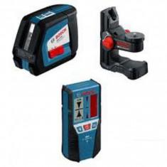 Nivela laser cu linii + receptor laser + suport universal Bosch - GLL 2-50 + BM 1 + LR 2 - Nivela optica