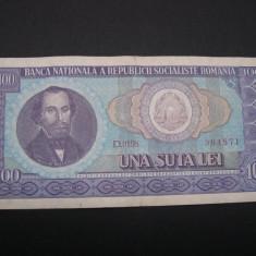 100 lei 1966 D0198 - Bancnota romaneasca