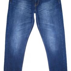 Blugi ZARA MAN - (MARIME: 36) - Talie = 94 CM, Lungime = 113 CM - Blugi barbati Zara, Culoare: Albastru, Prespalat, Slim Fit, Normal