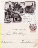 Brasov  (Litho) - Litografie 1898, Circulata, Printata