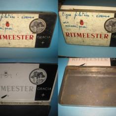 Cutie Tigarete veche RITMEESTER GRACIA, Olanda, metal-19_11 cm. - Cutie Reclama