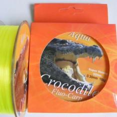 Guta, Monofilament, Nylon Aqua Crocodile Fluo-Carp 600mt - 0, 25mm - Fir Pescuit Baracuda