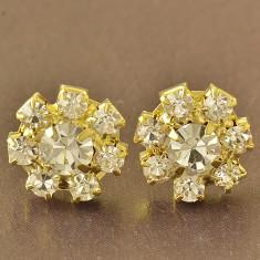 CERCEI swarovski PANDORA STAR filati placati aur galben 14k gold filled+CUTIUTA