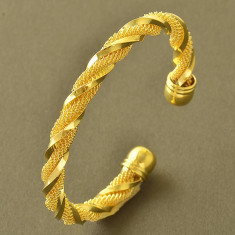Masiva bratara 9k GOLD FILLED - impletita - Bratara placate cu aur