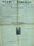 Neamul romanesc 13 aprilie 1940  Iorga Bucuresti Crimeea Valeni - de - Munte