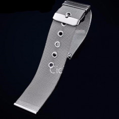 Bratara ceas 12 mm impletita curea ceas otel inoxidabil mash milaneza - Curea ceas din metal