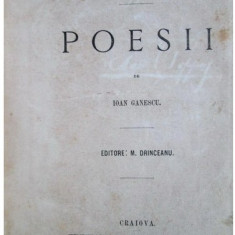Ioan Ganescu - Surisse si suspine. Poesii (1869) - Carte veche