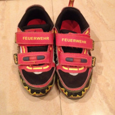 Adidasi Kappa pompierii marimea 32 - Adidasi copii Kappa, Culoare: Rosu, Baieti, Piele sintetica