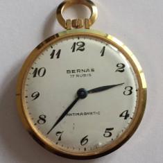 CEAS DE BUZUNAR MARCA BERNAS - VINTAGE - Ceas de buzunar vechi