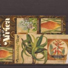 Tansania - flori de Africa - 4843/6+bl.648, Natura