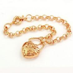 Bratara arab style inima placata aur galben 14k gold filled+saculet ideal cadou - Bratara placate cu aur Guess, Femei