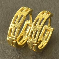 Superbi cercei 9K gold filled. - Cercei placati cu aur
