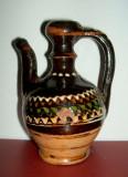 Miniatura ulcior artizanal ceramica pictata manual anii 70, arta mestesugareasca