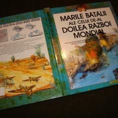 Album/carte militara de istorie, razboi, cu bataliile importante, perioada WW2