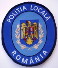5.522 ROMANIA ECUSON POLITIA LOCALA 108/94mm foto