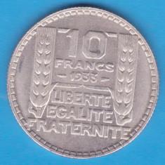(1) MONEDA DIN ARGINT FRANTA - 10 FRANCS 1933, 10 GRAME