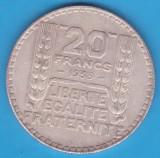 (5) MONEDA DIN ARGINT FRANTA - 20 FRANCS 1933, 20 GRAME