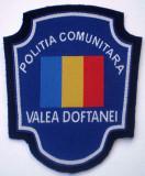5.521 ROMANIA ECUSON POLITIA COMUNITARA VALEA DOFTANEI 97/82mm