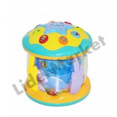 Proiector muzical cer instelat pentru camera copilului in forma de acvariu